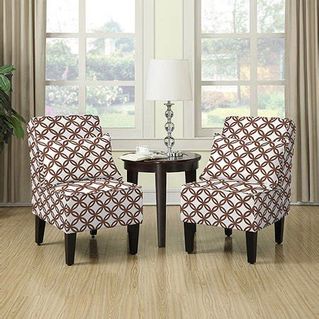 Living Room Accent Chairs 200 by Armless Accent Chair Set Of 2 Harmony Brown