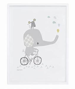 Poster Chambre Bébé : affiche b b l phant sur son v lo ~ Teatrodelosmanantiales.com Idées de Décoration