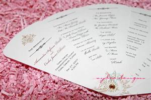 Wedding program design templates for Fan program template