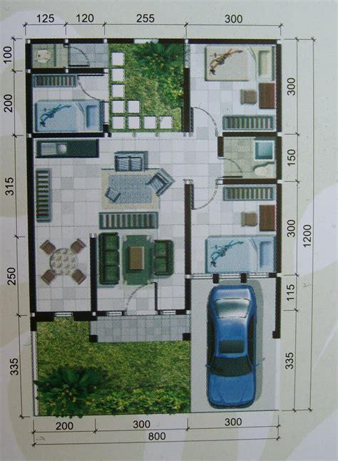 desain rumah lebar  meter panjang  meter contoh