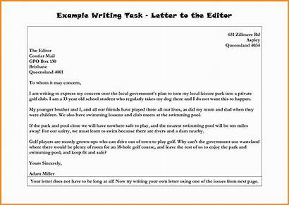 Editor Letter Format Formal Letters Example Write