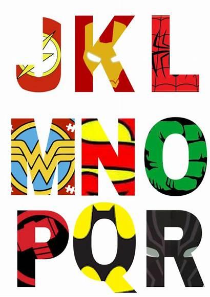 Superhero Alphabet Letters Printable Party Super Hero
