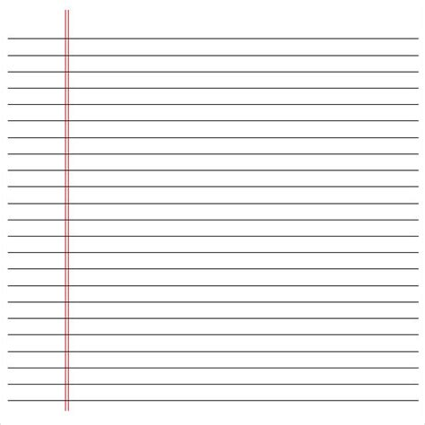 printable lined notebook paper printable pages