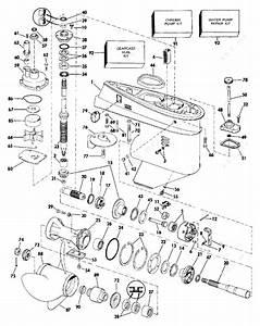 Evinrude 1989 60 - E60elcea  Gearcase