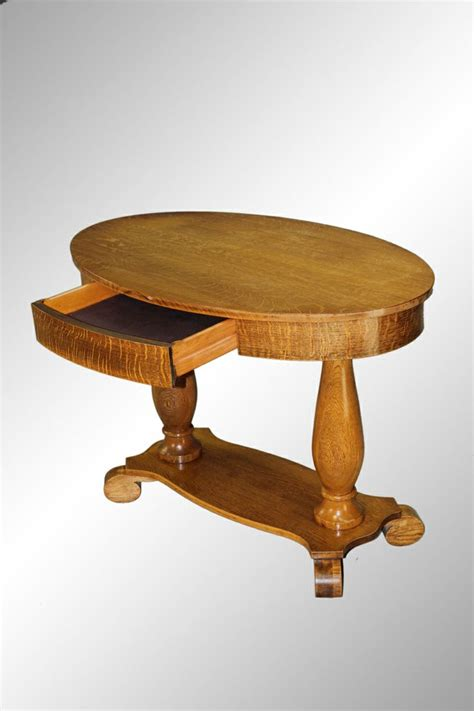 oak chairs for antique oval oak library table with drawer nantucket 3565