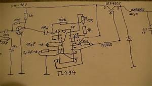 Schaltplan Schaltregler  Audiomodulation Mit Tl494 - Teil Der Schaltung Des Senders