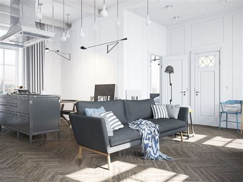 scandinavian apartment jazzed up by industrial design