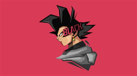 goku black minimal artwork   wallpapers hd