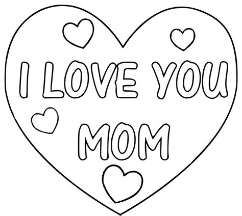 I Love You Mama Pages Coloring Pages
