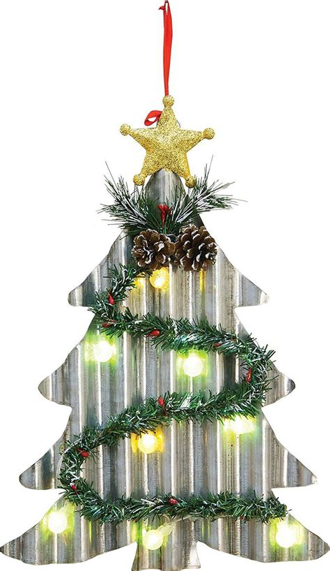 Not too many years ago, string lights came in two styles: LED Lighted Corrugated Metal Christmas Tree or Wreath - Light Up Wall Hanging Holiday Decoration ...