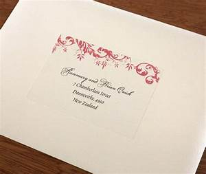 address labels for wedding invitation envelopes With wedding invitations printed addresses