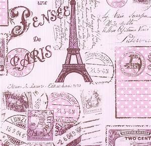Kids wallpaper Paris Boys & Girls rose 93630-2