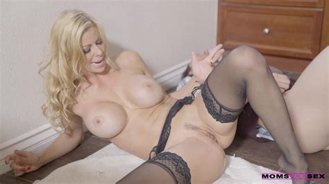Elegant Mom In Sexy Lingerie And Stockings Seduces Her Son