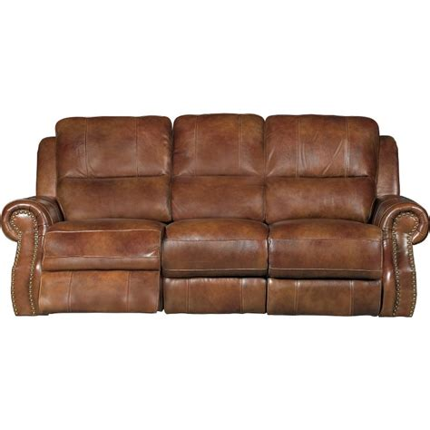 Chestnut Leather Sofa by Chestnut Brown Leather Match Manual Dual Reclining Sofa