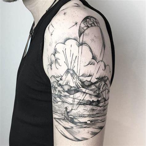 shoulder tropical island tattoo  tattoo ideas gallery