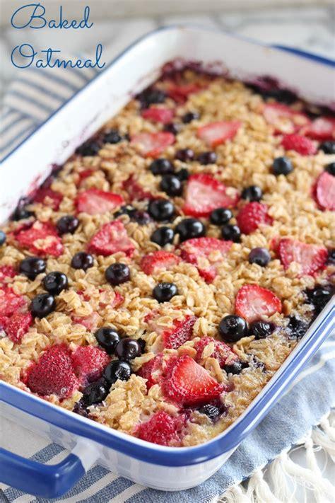 baked breakfast recipes make ahead baked oatmeal for breakfast