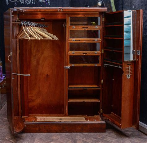 S Wardrobe Furniture by 1930 S Quot Compactom Quot Walnut Steamer Trunk Furniture