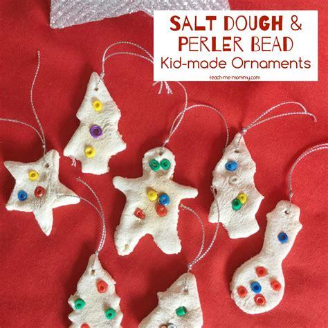 salt dough perler bead ornaments teach me mommy