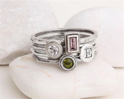 design your own mothers rings stack rings mothers ring silver stackable sted