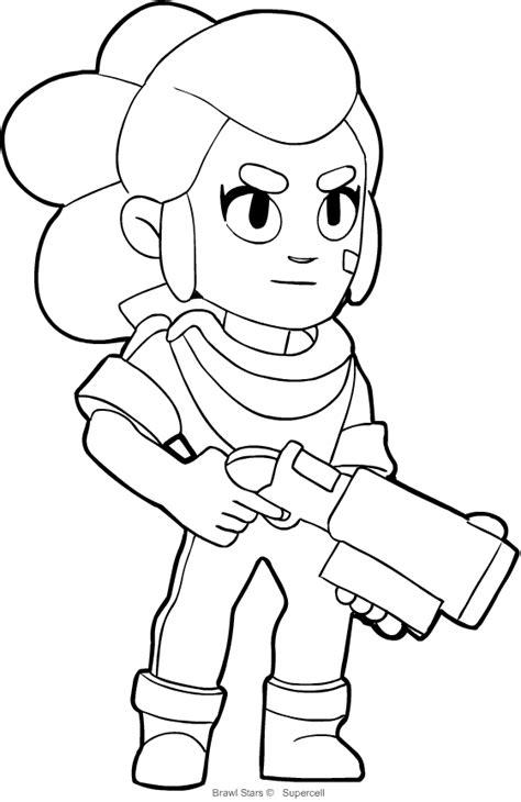 brawl tutti i personaggi disegni disegno shelly di brawl da colorare