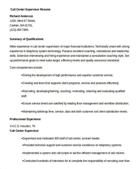 call center resume    word  documents