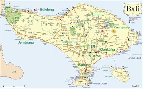 south bali road map browse info  south bali road map
