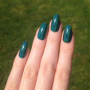 Green and Teal Acrylic Nails