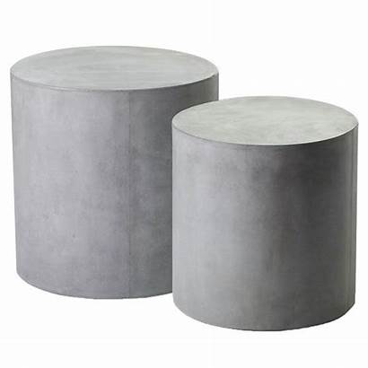 Concrete Round Side Tables Outdoor Holloway Table