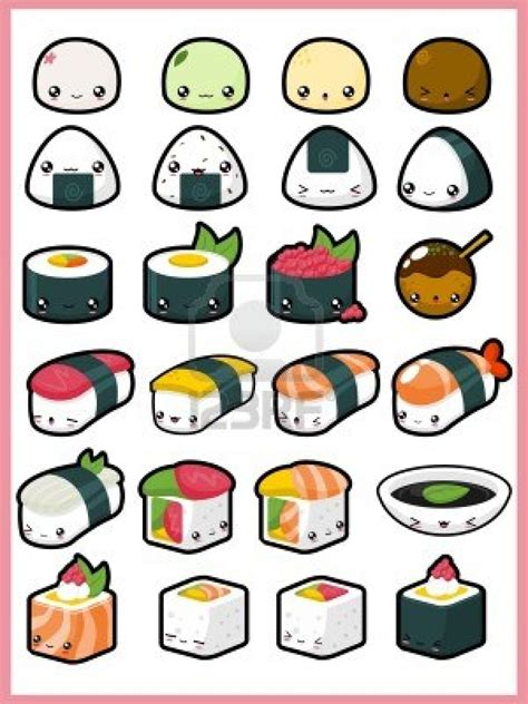 cuisine kawaii food drawings imgurm