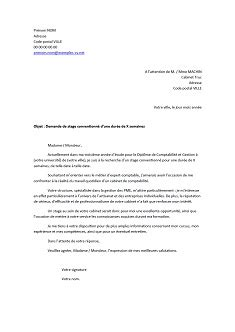lettre de motivation stage cabinet comptable lettre de motivation pour un stage en comptabilit 233 exemples de cv