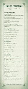 customize 47 pub style menu templates musthavemenus With irish menu templates