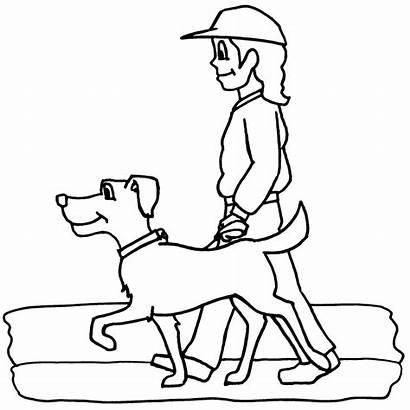 Clipart Walking Dog Clip Chores Chore Yard