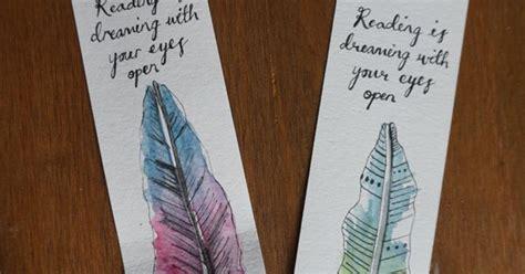 custom bookmark feather watercolour illustration