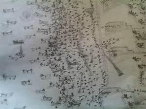 Stick Figure Battle Drawings