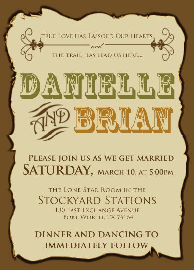 western wedding invitations western wedding invitations weddingbee photo gallery
