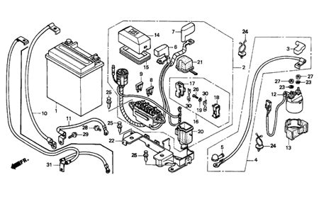 Wiring Diagram For Honda Recon Atv by 1998 Honda Foreman 400 Wiring Diagram Imageresizertool