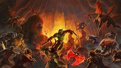 Doom Eternal Wallpapers Backgrounds Wallpaperaccess Slayers Trailers
