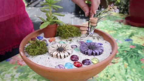 how to make gardens how to make a fairy garden youtube