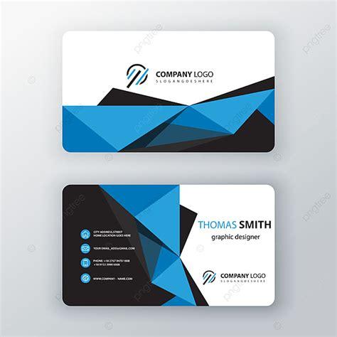 blue polygonal editable business card template