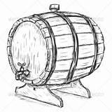 Barrel Wine Clipart Sketch Wooden Vector Barrels Illustration Clip Faucet Man Drawing Cartoon Graphicriver Beer Brewers Outline Shutterstock Keg Cask sketch template