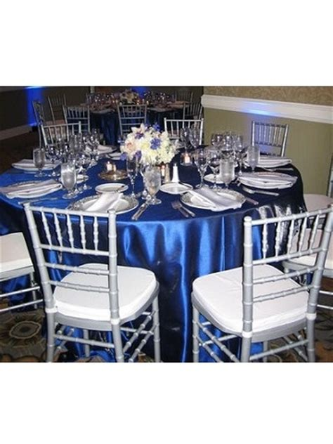 Royal Blue Poly Satin ? PS Event Rentals