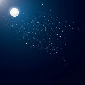 Night Sky clipart fullmoon - Pencil and in color night sky ...