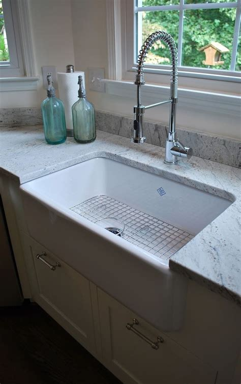 best material for farmhouse kitchen sink quot thunder white quot granite premier granite surfaces of