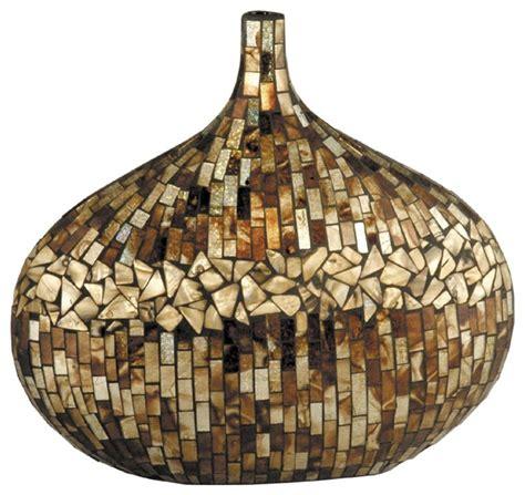 dale tiffany amber shell vase x 25101gp contemporary vases
