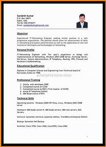 proforma of resume for job