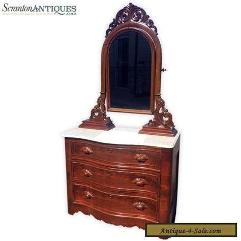 antique eastlake furniture carved walnut marble
