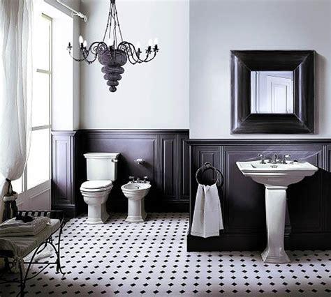 salle de bains retro inspirational classic black and white bathrooms mrs anchelon