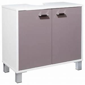 meuble sous lavabo quotglossquot taupe With meuble sous lavabo