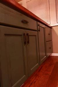 Hickory Craftsman/Painted Island Schmidt Custom Cabinetry