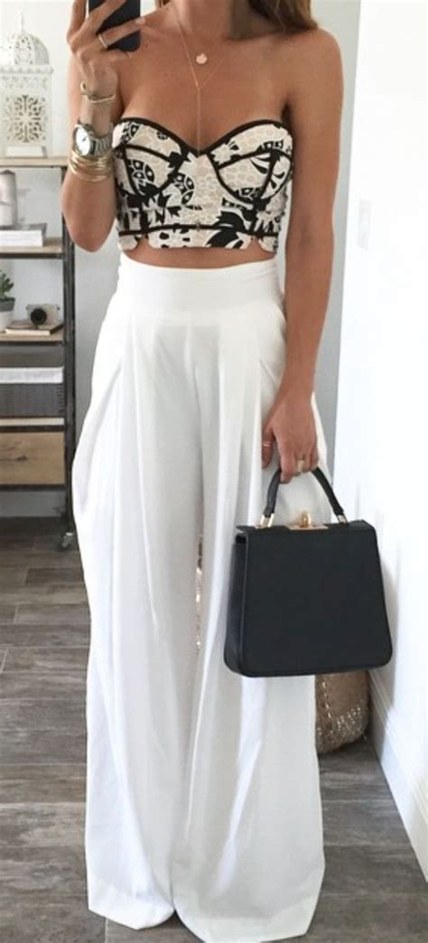 25+ best ideas about Tops For Palazzo Pants on Pinterest | Holiday outfits White pants summer ...